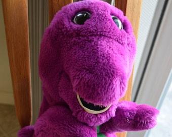 Vintage Barney Stuffed Plush Hand Puppet