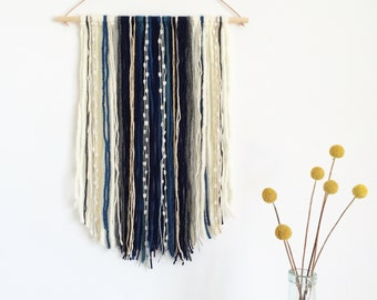 Wall hanging in blue and teal