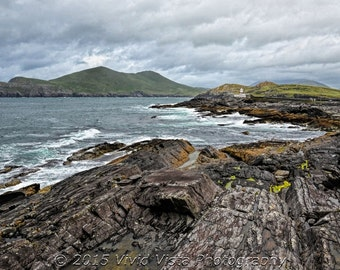 Ireland Photography – Rocky coast around Valentia Lighthouse in County Kerry