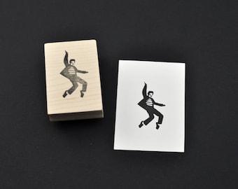 Dancing Elvis Stamp, Hand Carved Stamp