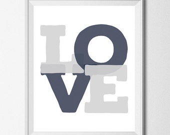 Love Sign Baby Room Decor Navy Gray Nursery Decor Gray And Navy Nursery Wall Art Little Boy Nursery Wall Decor Baby Boy Nursery Printables