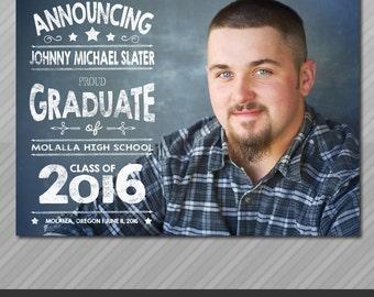 Graduation Announcement, Senior Graduation Announcement, High School Graduation, College Graduation, Printable or Printed