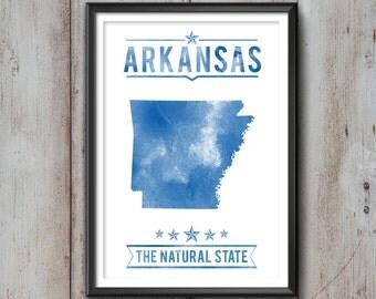Arkansas State Typography Print, Typography Poster, Arkansas Poster, Arkansas Art, Arkansas Gift, Arkansas Decor, Arkansas Love, Arkansas