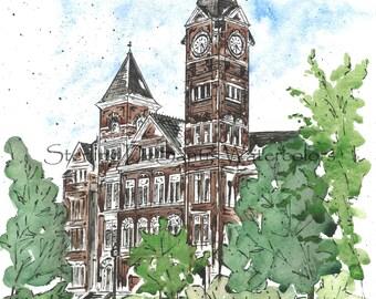 Auburn's Samford Hall - Auburn, Alabama