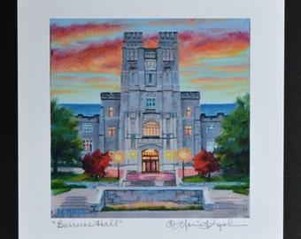 VIRGINIA TECH Print / College Art Print / Virginia Tech Fine Art Print