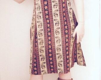 Meditation dress from india vintage high slits