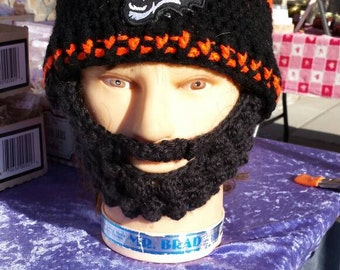 CINCINNATI BENGALS Bearded Beanie, CUSTOMIZE Any Size Any Color,Embroidered Bengals Patch, Velcro4PerfectFit,SportsFashion,CheckAll5Pics