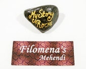 My story rocks, Story of my life, Hand painted stone, My story stones, Message stones, Woodland gift, Thank you friend, Gardener gift