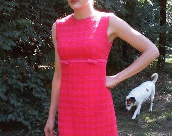 Lanz original 60s boucle vintage shift dress