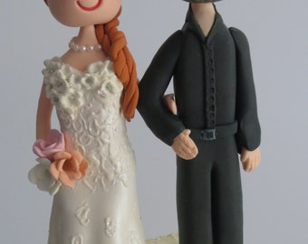 Standing Personalized Bride & Groom Cake Topper