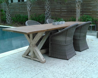 Trestle Farm Table for interior or exterior use