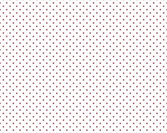 Red Swiss Dot on White by Riley Blake Designs