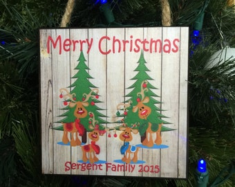 Personalized Christmas Ornament, Family Gift, Grandparents Gift, Christmas Gift