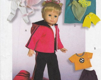 American Girl Doll Clothes Sewing Pattern, 18 Inch Doll Sewing Patterns, Doll Clothes Pattern, Uncut Sewing Pattern, McCalls Crafts M4896
