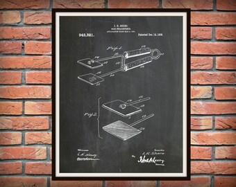Patent 1909 Hair Straightener - Flat Iron - Art Print - Poster - Barber Shop Art - Hair Salon Wall Art - Hairdresser Art - Beauty Shop