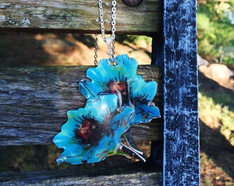 Blue Flower Blooms Necklace