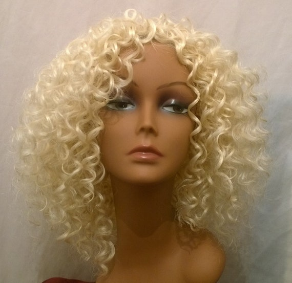 Crochet Hair Blonde : Items similar to FUN BLONDE, Blonde hair, Curly, crochet, wig, wig ...