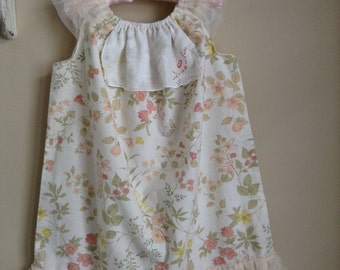 Tea party dress, upcycled, eco friendly, vintage, shabby chic, unique,