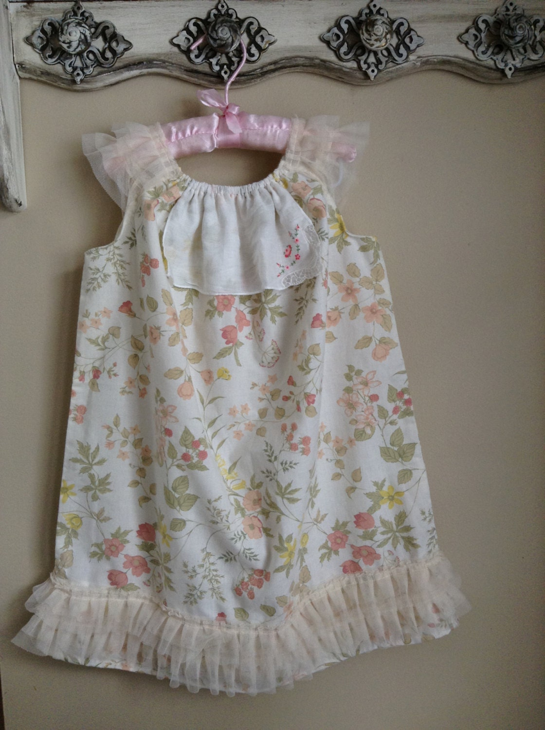 tea party dress upcycled eco friendly vintage shabby chic. Black Bedroom Furniture Sets. Home Design Ideas