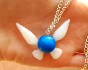 Navi Necklace The legend of Zelda blue fairy kawaii