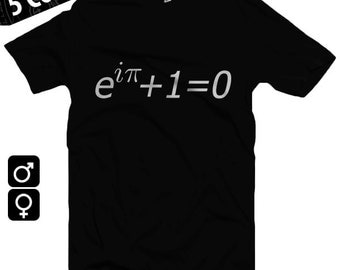 Euler's Equation American Apparel T-shirt S-XXL Men/Women, Math, Pi, Identity, Logarithm, Equation of God, Cool Gift!