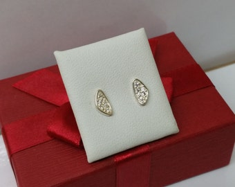 Glitter ear studs earrings 925 Silver KO145