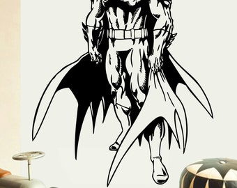 Batman wandtattoo etsy for Batman wandtattoo
