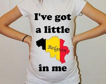 Pregnancy Clothes Maternity TShirts Belgia Mom to be Shirt Future Mom Top Tunic Funny Maternity Baby Peeking