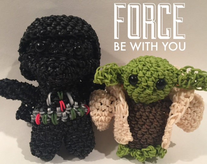 Star Wars Darth Vader & Yoda Combo Play Pack Rubber Band Figures, Rainbow Loom Loomigurumi, Rainbow Loom Disney