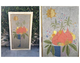 Mid Century Needlework Vintage Mid Century Modern Art Mid Century Mod Art Mad Men Art Filosaphy Finds Mid Century Mod Needlepoint Art