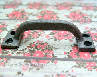 RUSTIC DRAWER PULL - Modern Drawer Pulls, Cast Iron Drawer Pulls, Vintage Pulls, Steel Pulls, Dresser Drawer Pulls, Knobs, Industrial