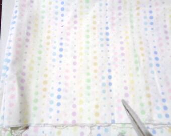 1/2 yard pastel polka dot cotton