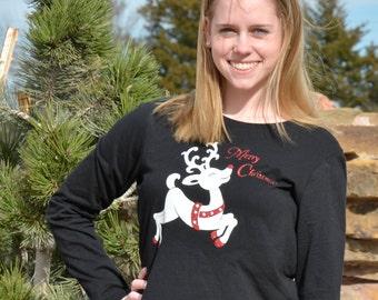 Leaping Reindeer Glitter Shirt
