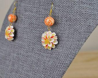 Orange Blossom Earrings