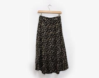 True Vintage Button Front Maxi Skirt S/M