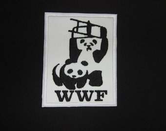 WWF Panda's Funny Iron or Sew On Patch