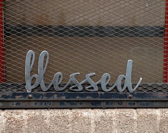 Metal BLESSED sign that would look great when included in your Fall/Thanksgiving decor! Also would look good on a gallery wall!
