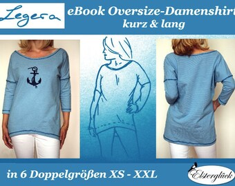 eBook LEGERA Oversize Shirt sewing pattern