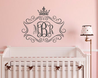 High Quality Wall Decals Vinyl Stickers By FabWallDecals On Etsy - Monogram wall decals for business