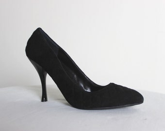 ENZO ANGIOLINI (7.5M) Black High Heel Quilted Pumps