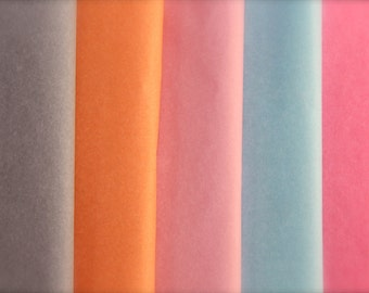 Lot of 10 sheets of tissue paper, chiffon, Giftwrap