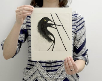 "MONOPRINT / ETCHING / INTAGLIO / Collection ""Waders creatures"" / Anteater by CFTurcas"