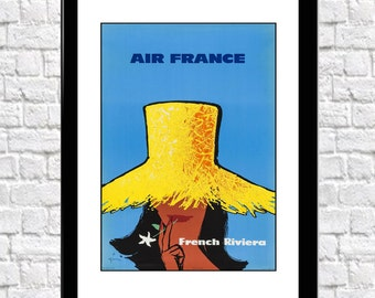 French Riviera Travel France Travel Poster Travel Wall Art