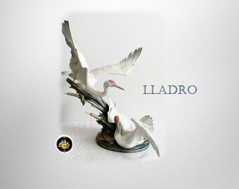 """Lladro large porcelain figurine """"Cranes"""" - number 1456"""