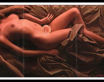 "Mature Playboy OUI 1973 : Centerfold Gatefold 3 Page Spread Photo Wall Art Decor 11"" x 23"""