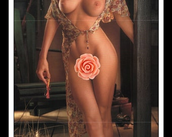 "Mature Playboy July 1995 : Playmate Centerfold Heidi Mark Gatefold 3 Page Spread Photo Wall Art Decor 11"" x 23"""