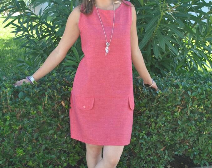 Dress for women, dress, Soft Pink dress, women's clothing, Vintage dress