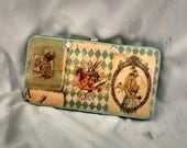 Alice In Wonderland clutch wallet classic Alice  Vintage Alice in wonderland custom wallet  Fairy tale wallet