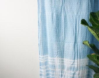 Indigo Tie Dye Shibori Curtains