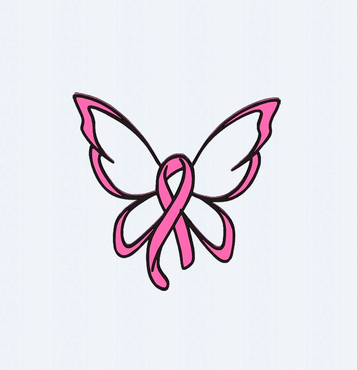 Breast Cancer Ribbon Butterfly Svg Cut File By Jencraftdesigns